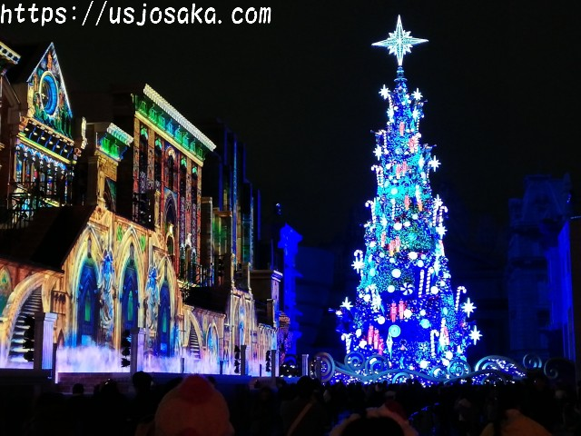 USJのクリスマスツリーは最後じゃないの?