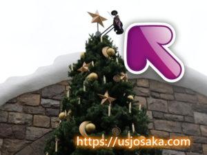 ハリーポッターエリアの  クリスマスツリー