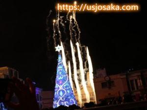 ユニバのクリスマスツリーの点灯式