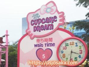 ハローキティのカップケーキドリーム の待ち時間