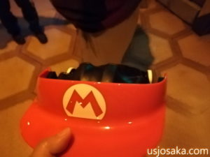 USJマリオカートのゴーグル・帽子